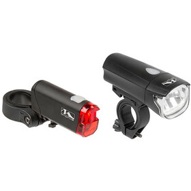 M-Wave Atlas K50 Lighting Set black